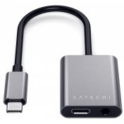 Переходник Satechi (ST-TCACAM) USB-C to USB-C/Mini-Jack (Space Grey)