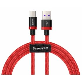 Кабель Baseus Purple Gold Red Flash Charge cable USB For Type-C 40W 1m, Красный (CATZH-A09)